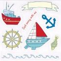 По волнам Набор штампов для скрапбукинга, кардмейкинга Ahoy There Docrafts