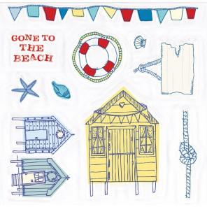 На пляж Набор штампов для скрапбукинга, кардмейкинга Ahoy There Docrafts