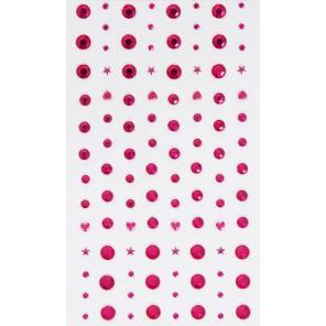 Фуксия Стразы декоративные самоклеющиеся элементы 104 шт Docrafts