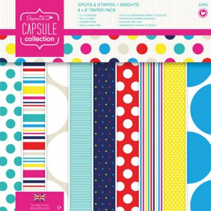 Spots & Stripes Brights Набор бумаги 20x20 для скрапбукинга, кардмейкинга Docrafts