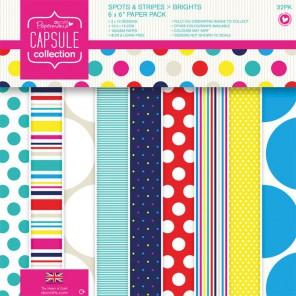 Spots & Stripes Brights Набор бумаги 15x15 для скрапбукинга, кардмейкинга Docrafts