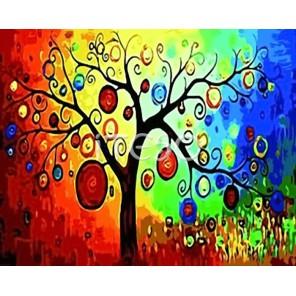 Дерево богатства Раскраска по номерам акриловыми красками на холсте Iteso