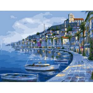 Лазурное побережье 50х65см Раскраска по номерам акриловыми красками на холсте Menglei