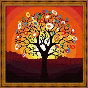 Дерево надежд 40х40 Раскраска по номерам акриловыми красками на холсте Hobbart