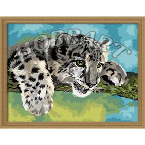 Детеныш леопарда 30х40 Раскраска по номерам акриловыми красками на холсте Hobbart