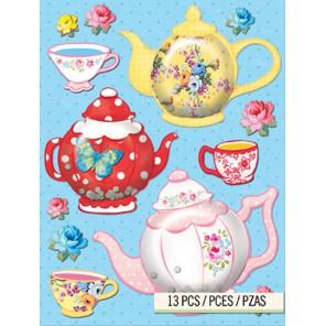 Чайники и чашки Стикеры для скрапбукинга, кардмейкинга K&Company