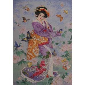 Гейша бабочка Набор для вышивания Bucilla