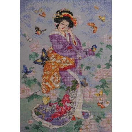 Гейша бабочка 45459 Набор для вышивания Bucilla Счетный крест вышивка