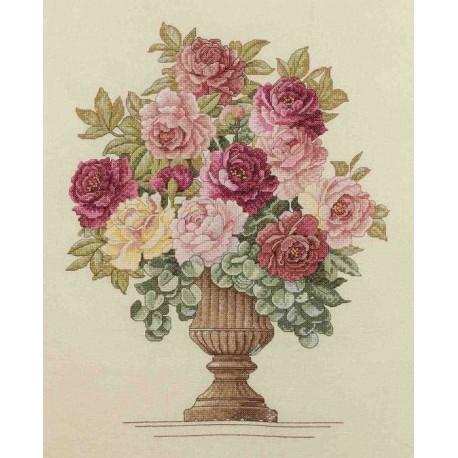 Розы 45460 Набор для вышивания Bucilla Счетный крест вышивка