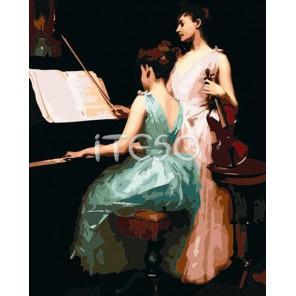 Урок музыки Раскраска по номерам акриловыми красками на холсте Iteso