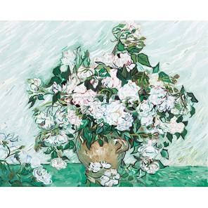 Белые розы Ван Гога Раскраска по номерам акриловыми красками на холсте Iteso Картина по номерам