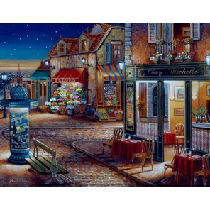 Звездная ночь (художник Джон О` Брайен) Раскраска картина по номерам акриловыми красками Plaid