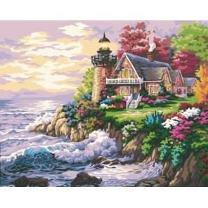 Дом у маяка Раскраска по номерам акриловыми красками на холсте Menglei