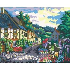 Уютная улочка А014 Раскраска по номерам акриловыми красками на холсте Menglei