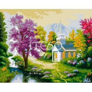 Сказочный уголок Раскраска по номерам на холсте Iteso