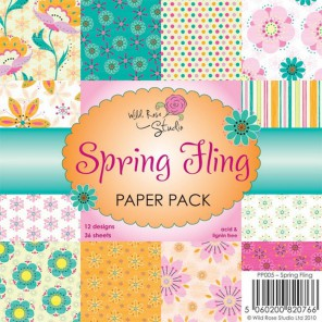 Весна Набор бумаги для скрапбукинга, кардмейкинга Wild Rose Studio