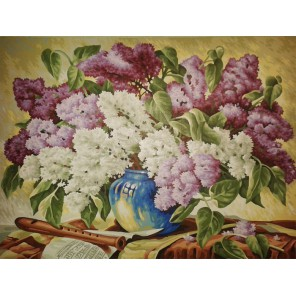 Букет сирени Раскраска картина по номерам акриловыми красками Schipper (Германия)