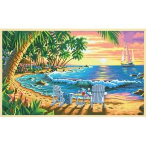 На пляже Раскраска (картина) по номерам акриловыми красками Dimensions