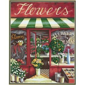 Цветочный магазин Раскраска картина по номерам Dimensions