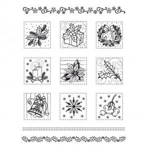 Зима в миниатюрах Набор прозрачных штампов для скрапбукинга, кардмейкинга Viva Decor