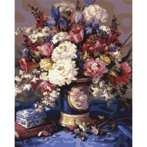 Итальянская ваза Раскраска по номерам акриловыми красками Plaid