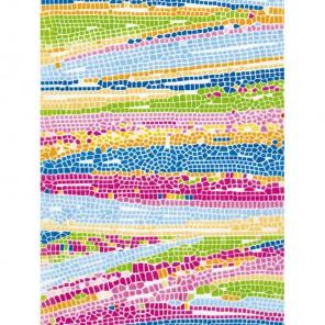 Мозаика розово-голубая 3шт Набор Бумага для декопатча Decopatch