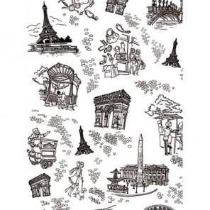 Париж черно-белый 3шт Набор Бумага для декопатча Decopatch
