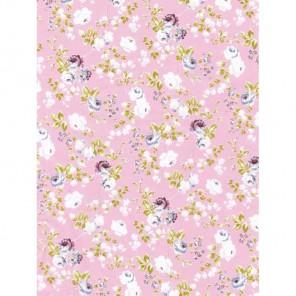 Цветы и розочки на розовом 3шт Набор Бумага для декопатча Decopatch
