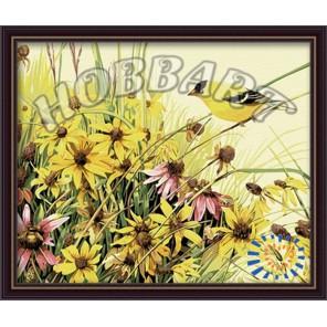 Птица певчая Раскраска картина по номерам акриловыми красками на холсте Hobbart