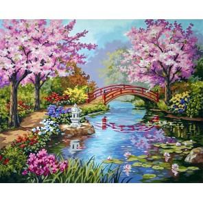 Японский сад 91415 Раскраска по номерам Dimensions