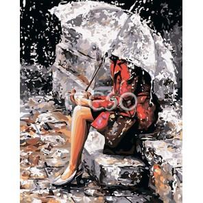 Мелодия дождя Раскраска картина по номерам акриловыми красками на холсте Iteso