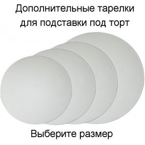 Дополнительная тарелка пластиковая для подставки под торт Wilton ( Вилтон )