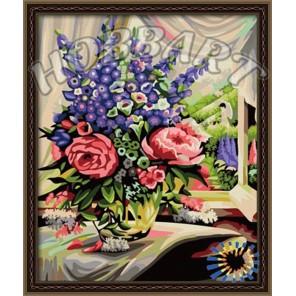 Розово-люпиновый дуэт Раскраска по номерам акриловыми красками на холсте Hobbart