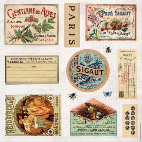 Надписи Madame Payraud Набор декоративных элементов для скрапбукинга, кардмейкинга Docrafts