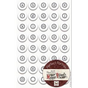 Мини алфавит английский - Печатная машинка  Набор резиновых штампов для скрапбукинга, кардмейкинга Docrafts