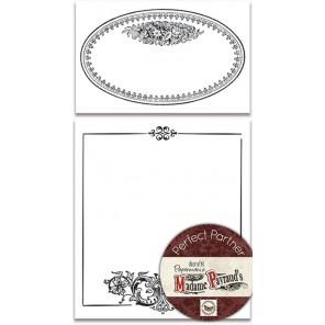 Овальная и квадратная рамки  Набор резиновых штампов для скрапбукинга, кардмейкинга Docrafts