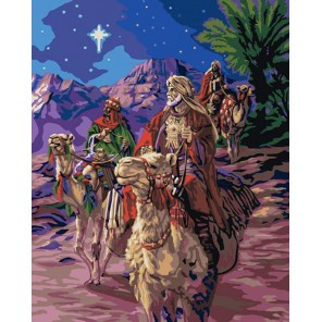 Путешествие волхвов (художник Корберт Готье) Раскраска картина по номерам акриловыми красками Plaid