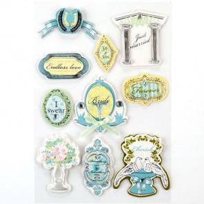 Свадьба и голуби 3D Стикеры  для скрапбукинга, кардмейкинга Рукоделие