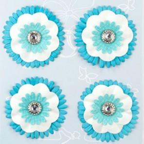 Голубые цветы Стикеры для скрапбукинга, кардмейкинга Рукоделие