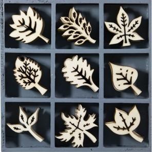 Листья Набор деревянных декоративных элементов для скрапбукинга, кардмейкинга cArt-Us