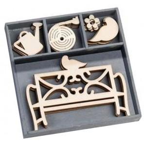 Садовая скамейка Набор деревянных декоративных элементов для скрапбукинга, кардмейкинга cArt-Us