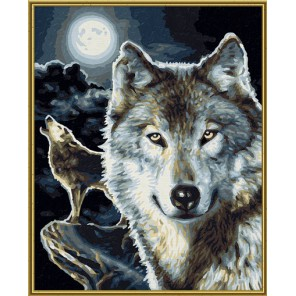 Волки Раскраска картина по номерам акриловыми красками Schipper (Германия)