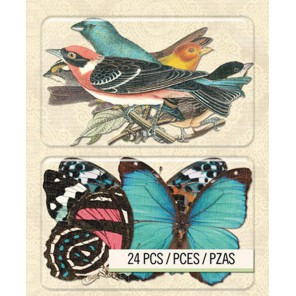 Птицы и Бабочки Чипборд для скрапбукинга, кардмейкинга K&Company