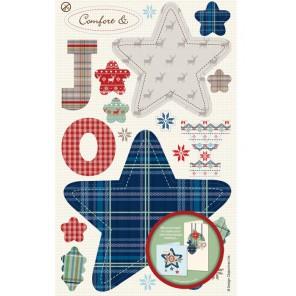 Радость Рождества Набор высеченных элементов Docrafts