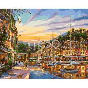Вечернее Монако Раскраска по номерам акриловыми красками на холсте Iteso