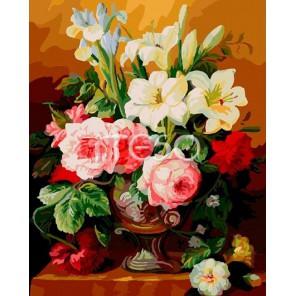 Букет лилий и пионов Раскраска по номерам акриловыми красками на холсте Iteso
