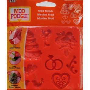 Свадьба Силиконовый молд для создания украшений Mod Podge Plaid