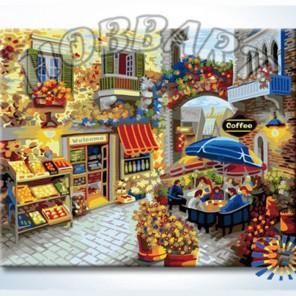 Кафе у цветочной арки Раскраска по номерам акриловыми красками на холсте Hobbart