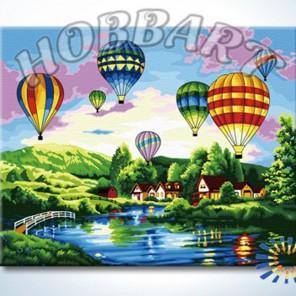 Фестиваль воздушных шаров Раскраска по номерам акриловыми красками на холсте Hobbart