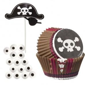 Пираты Набор бумажных форм и украшений для кексов Wilton ( Вилтон )